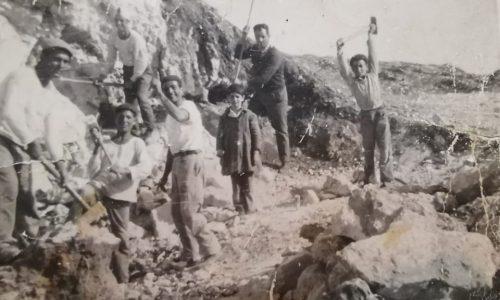 Foto storica della calcare di gesso di Montallegro