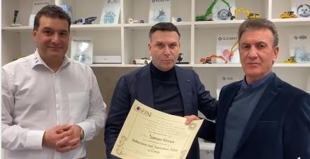 Il Cavaliere Damiano Ferraro Ambasciatore degli imprenditori Italiani in Europa